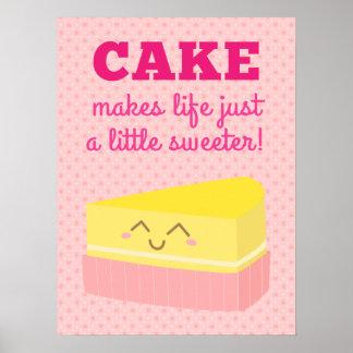 La torta hace vida apenas un poco más dulce impresiones