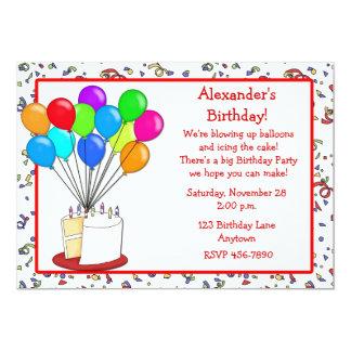 La torta hincha la invitación del cumpleaños