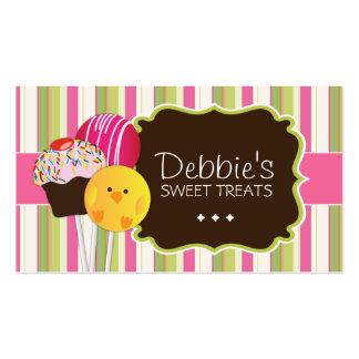 La torta linda y juguetona hace estallar tarjetas  tarjeta de negocio