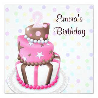 La torta rosada de Brown presenta a la 2da fiesta Invitaciones Personales