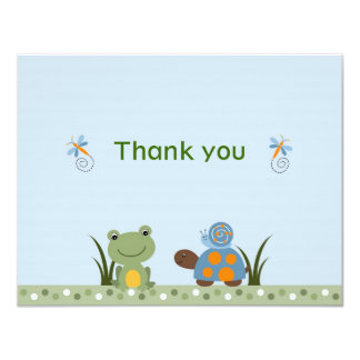 La tortuga de la rana de Hippity le agradece las Invitación Personalizada