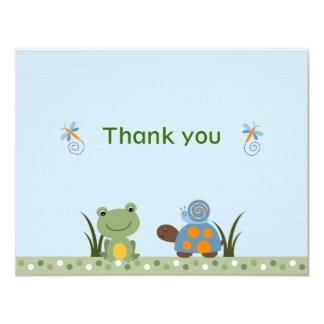"""La tortuga de la rana de Hippity le agradece las Invitación 4.25"""" X 5.5"""""""