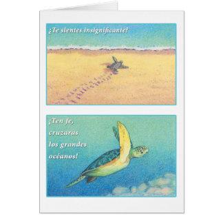 La Tortuga de marcha, tarjeta