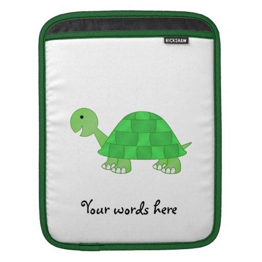 La tortuga del bebé en verde se descolora mangas de iPad
