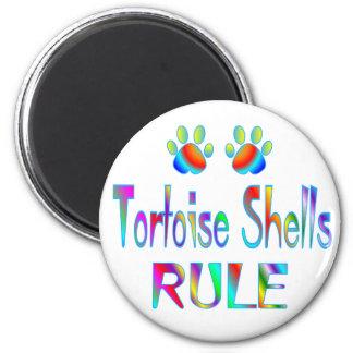 La tortuga descasca regla imán redondo 5 cm