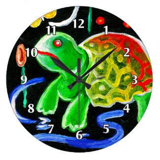 La tortuga enrrollada reloj de pared