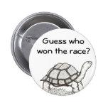 La tortuga ganó la insignia pins
