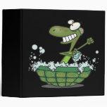 la tortuga linda que se baña en su tina de la cásc