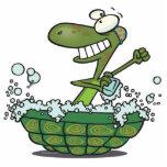 la tortuga linda que se baña en su tina de la cásc esculturas fotográficas