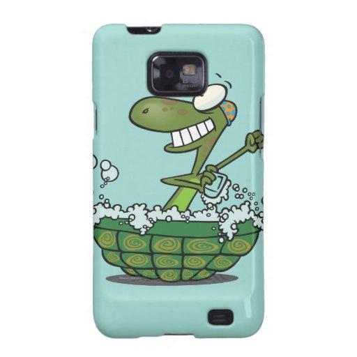 la tortuga linda que se baña en su tina de la cásc galaxy s2 carcasa