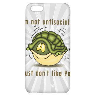 la tortuga no antisocial apenas no tiene gusto de