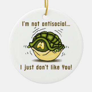 la tortuga no antisocial apenas no tiene gusto de  ornamentos de reyes magos