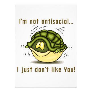 la tortuga no antisocial apenas no tiene gusto de anuncios