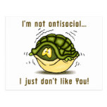 la tortuga no antisocial apenas no tiene gusto de postal