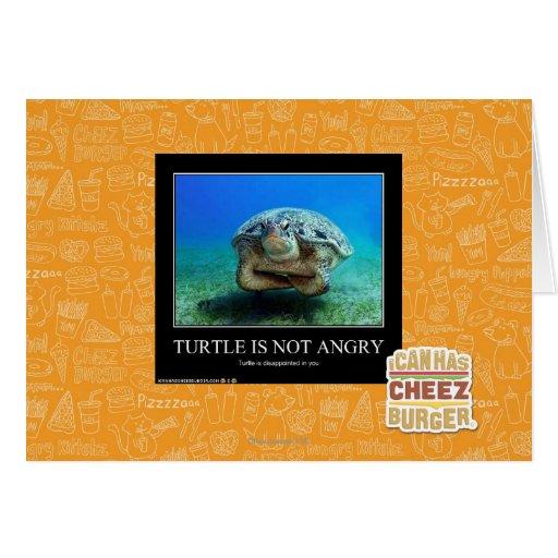 La tortuga no está enojada tarjeta de felicitación