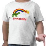 La tortuga personalizada de los niños después del camiseta