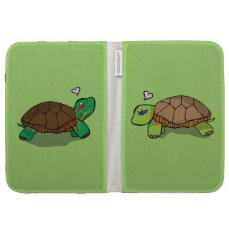 La tortuga pintada linda enciende el folio