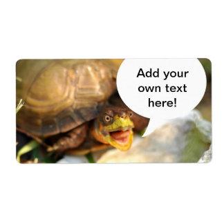 La tortuga que habla dice cuál está en su mente etiqueta de envío