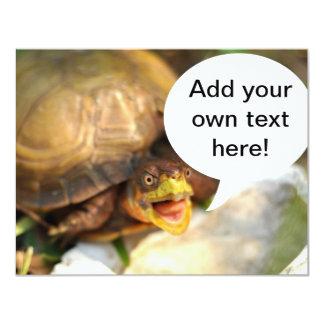 """La tortuga que habla dice cuál está en su mente invitación 4.25"""" x 5.5"""""""