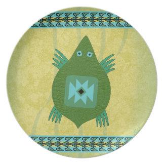 La Tortuga (The Turtle) Melamine Plate