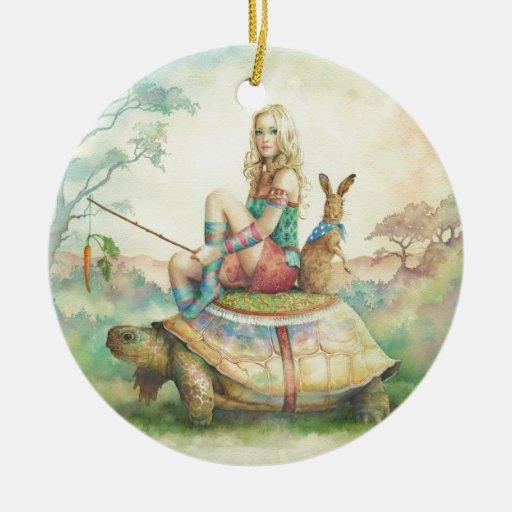 'La tortuga y el Hare Ornamento De Reyes Magos