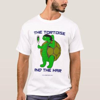 La tortuga y el tamaño extra grande del pelo playera