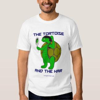 La tortuga y el tamaño extra grande del pelo remera