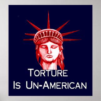 La tortura es antiamericana poster