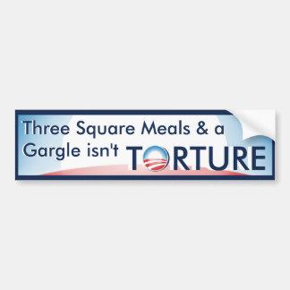 La tortura no es. pegatina para auto