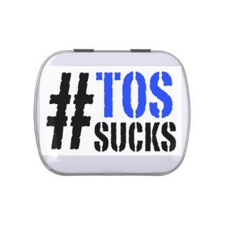 La TOS de Hashtag chupa la lata de la píldora del Frascos De Dulces