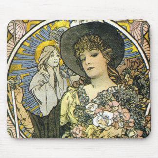 """La Tosca"" (detalle) por Alfonso Mucha Tapete De Raton"