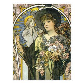 """""""La Tosca"""" (detalle) por Alfonso Mucha Tarjetas Postales"""