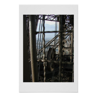 La Tour d'Eiffel on White Poster