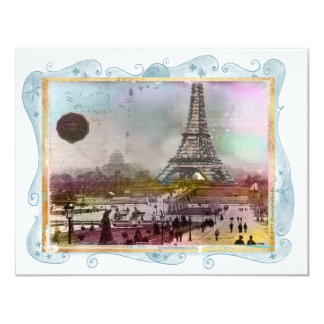 La Tour Eiffel 4.25x5.5 Paper Invitation Card