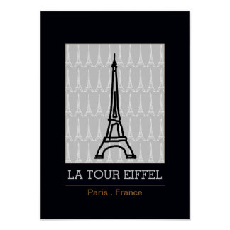 La Tour Eiffel / black and white Poster