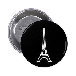 la tour Eiffel 2 Inch Round Button