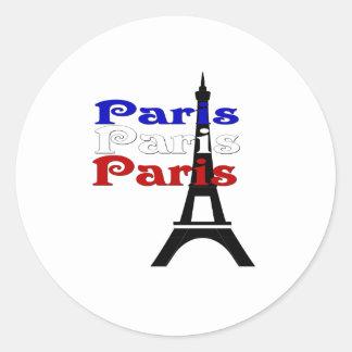 La Tour Eiffel Classic Round Sticker