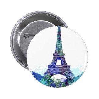 La tour Eiffel  color splash Button