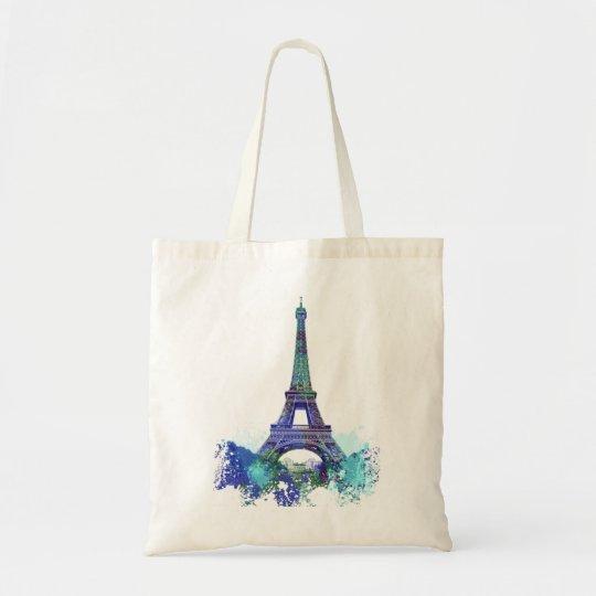 La tour Eiffel  color splash Tote Bag