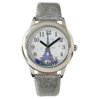 La tour Eiffel color splash Wrist Watches