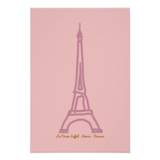 La Tour Eiffel  France Paris Poster