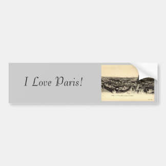 La Tour Eiffel, Paris France c1910 Vintage Bumper Sticker