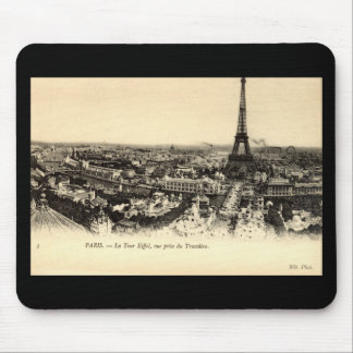 La Tour Eiffel Paris France c1910 Vintage Mousepads