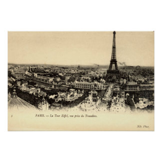 La Tour Eiffel, Paris France c1910 Vintage Poster