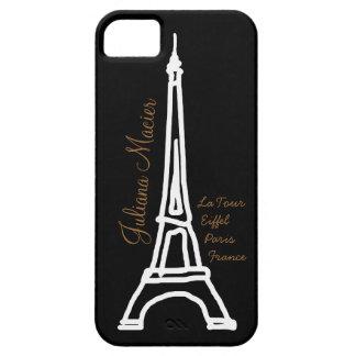 la tour Eiffel personalized name iPhone SE/5/5s Case