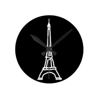 la tour Eiffel Round Clock