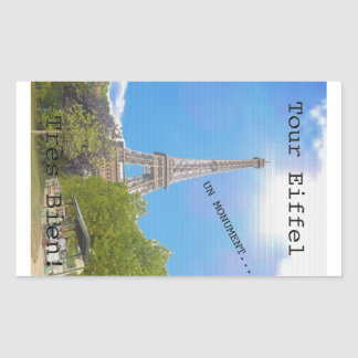 La Tour Eiffel Rectangle Stickers