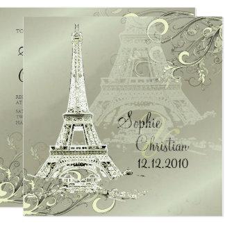 LA TOUR EIFFEL TOWER WEDDING INVITATIONS