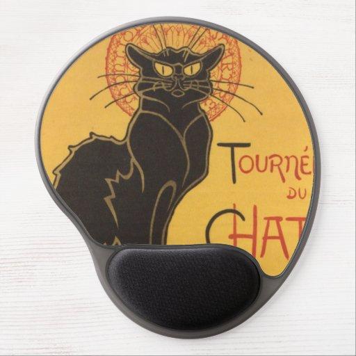 La tournée du Chat Noir Gel Mousepad