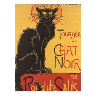 La tournée du Chat Noir Postcard